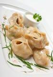 cream ravioli тарелки кислый Стоковое Фото