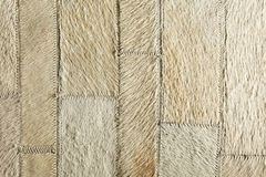 Cream real leather patchwork Stock Images