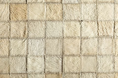 Cream real leather patchwork Stock Photos