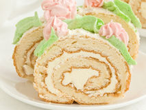 Cream roll Royalty Free Stock Photo