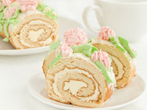 Cream roll Royalty Free Stock Image