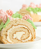 Cream roll Royalty Free Stock Photography