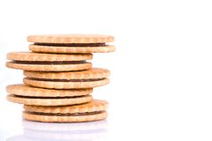 Cream sandwich cookies Stock Photo