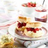 cream scones варенья Стоковые Фото