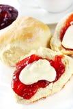 cream scones варенья Стоковые Изображения
