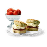 Cream Scones 2 Royalty Free Stock Images