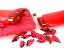 Cream and shampoo Royalty Free Stock Image