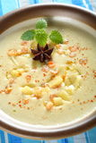 Cream with shrimps Stock Image