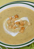 Cream soup. On plate on table Stock Photography