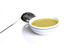 Cream soup..... Delicious bowl of vegetable soup Stock Photos