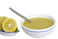 Cream soup.. Delicious bowl of vegetable soup Royalty Free Stock Photos