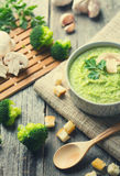 Cream Soup with Broccoli Royalty Free Stock Photos