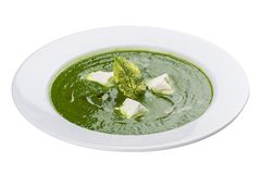 Cream soup with broccoli. royalty free stock photography