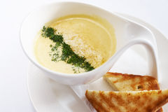 Cream soup cheese Royalty Free Stock Photo