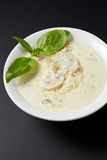 Cream Soup With Chicken And Mushrooms. Italian style. Italian fo Royalty Free Stock Photography