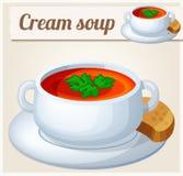 Cream soup. Detailed Vector Icon Stock Photos