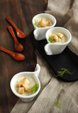 Cream soup of fennel. With croutons Royalty Free Stock Image