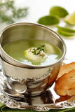 Cream - soup with green peas. Royalty Free Stock Image
