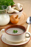 Cream soup with mushrooms Royalty Free Stock Images