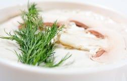 Cream soup of mushrooms Royalty Free Stock Photo