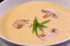 Cream soup with mushrooms Royalty Free Stock Photography