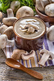 Cream soup with mushrooms Royalty Free Stock Photo