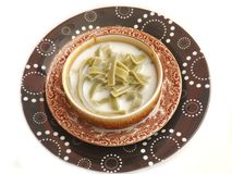 Cream soup with noodles Stock Image