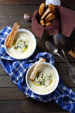 Cream soup with parsnip and cheese Royalty Free Stock Photo