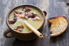 Cream soup of peas Stock Photo