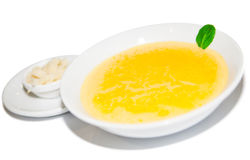 Cream soup with potato Royalty Free Stock Photos