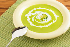 Cream soup puree Royalty Free Stock Image