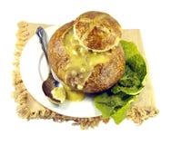 Cream Soup in a Sourdough Bread Bowl Stock Photography
