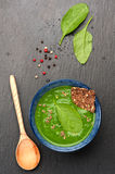 Cream soup Spinach Royalty Free Stock Images
