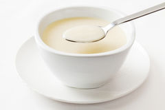 Cream Soup Spoon Spoonful Royalty Free Stock Photography