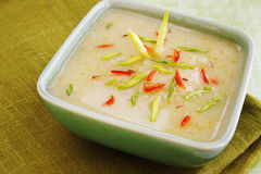 Cream soup with vegetables Stock Image
