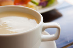 Cream soup in white cup Royalty Free Stock Photography