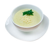 Cream soup with zucchini Royalty Free Stock Images