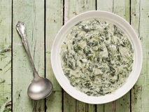 Cream spinach Stock Photography