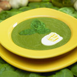 Cream spinach soup Royalty Free Stock Images