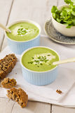 Cream spinach soup Royalty Free Stock Photography