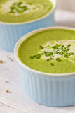Cream spinach soup Stock Photos