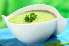 Cream of Spinach Soup Stock Photography