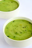 Cream of Spinach Soup Royalty Free Stock Images