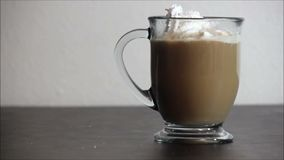 Whipped cream on coffee 1