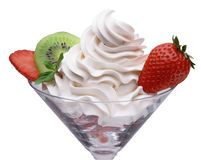 Cream and strawberry Stock Photography