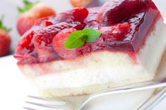Cream strawberry cake Royalty Free Stock Photo