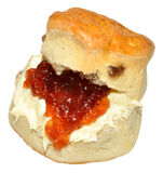 Cream And Strawberry Jam Scone Royalty Free Stock Image