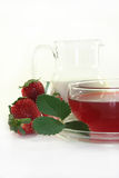 Cream - strawberry - Tea Stock Image