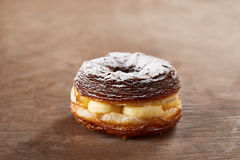 Cream stuffed croissant and doughnut mixture Stock Image