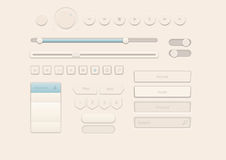 Cream Style User Interface Elements. 100% customizable vector shapes Royalty Free Stock Photos